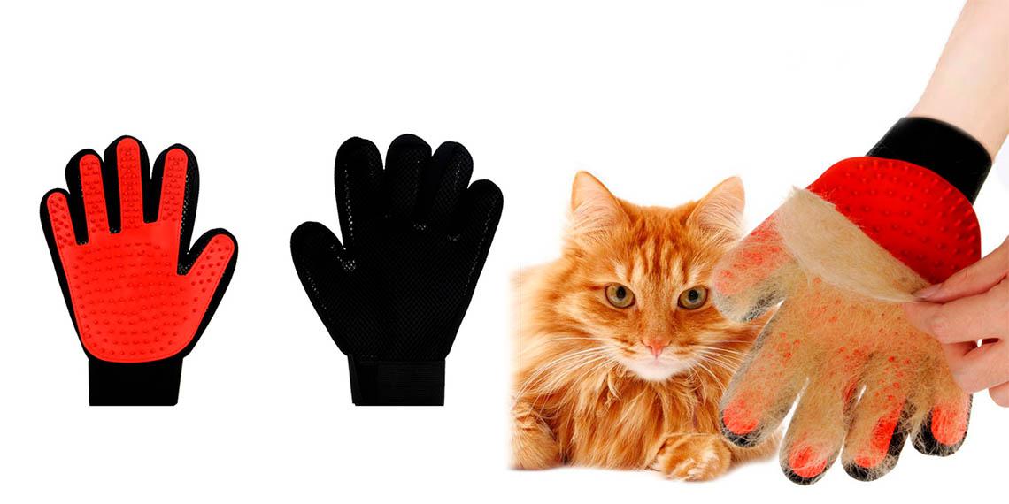 Перчатки для вычесывания шерст