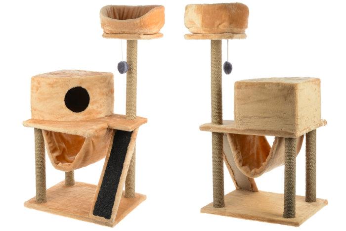 Игровая площадка для кошек с гамаком