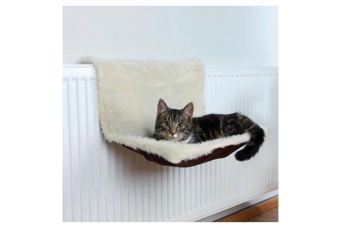 Мягкий гамак для кошек на батарею